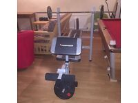 Cross trainer, bench, weights and more