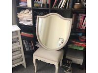 Beautiful Antique mirror with beveled edges framed £77