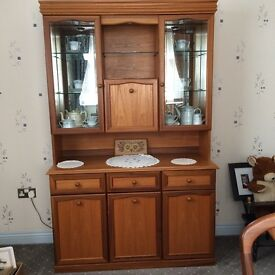 Wall Unit with glass backs