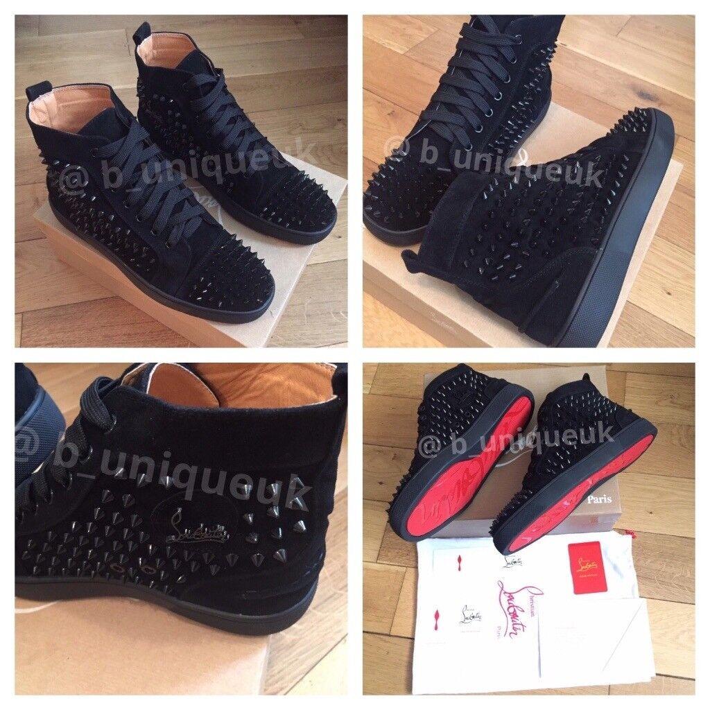 e6354b7175f Christian Louboutin Men Women s Boys Girls Trainers Sneakers Footwear Shoes  Loubs Various Sizes