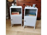 Pair of vintage bedside lockers, bedside tables, bedroom furniture