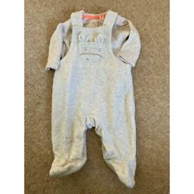 Baby boy dungarees first size