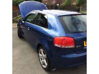 Audi A3 3.2 sports Quattro 4X4 73000 miles, 2005, manual ***£3650***
