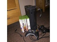 Like new condition console 120gb space, includes 8 popular games, 2 controllers an wireless internet