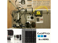 GoPro Black Hero 3+ (Very good condition) with 64gb memory card / brunton battery pack / microphone!