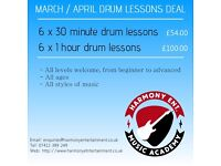 drum lessons with harmony Ent. Teacher . Bury / Manchester