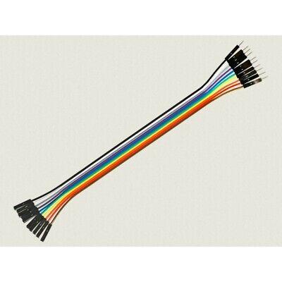 Cable Hembra Macho 10 x 1 pin 20cm Female - Male Jumper...