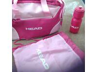 Ladies pink head bag,& gym bag