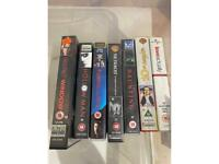 Mixture of VHS tapes