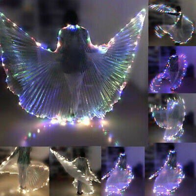LED Isis Wings Belly Dance Cosplay Glow Show Light Up Costume Festival Wing Wear - Light Up Dance Costumes