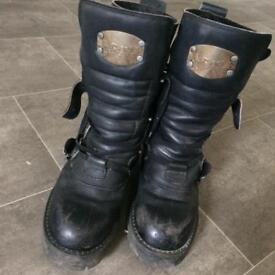 Premium Leather Itshide Commando biker boots unisex 40