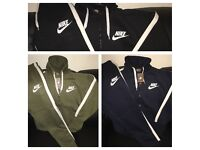 Men's Nike Tracksuit - 3 colours Hoodies and Joggers sizes S-XL
