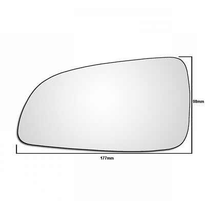 Left Hand Passenger Side Vauxhall Astra H Mk5 2004 2009 Wing Door Mirror Glass