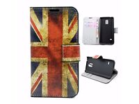UK Flag Design PU Leather Cover Case For Samsung Galaxy S5 mini