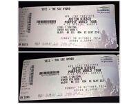 2 Justin Bieber Tickets Glasgow 30th Oct