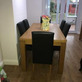 Next Oakwood 6 seater table and chairs