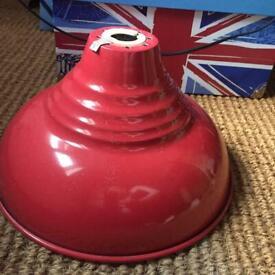 Red metal retro lamp shade