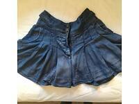 Warehouse denim skirt / skort size 6/8