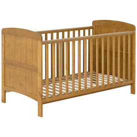 john lewis cotbed with teething rail and mattress, VGC, CAN DELIVER