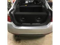 Gladen car audio subwoofer and amplifier