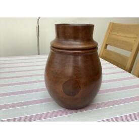 Antique Treen Hand Carved Decorative Pot
