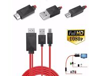 2M MHL Micro USB to HDMI 1080P HD TV Cable Adapter For Samsung Note2/3/4 S3/4/5
