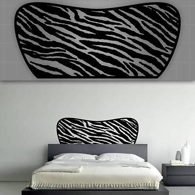Zebra Headboard Wall Decal, Bedroom Wall Decor - 48