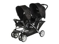 Graco Stadium duo Oxford standard double twin pushchair buggy stroller tandem