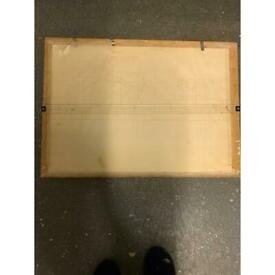 Drawing board with adjustable rule