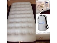 In-Built pump - THE ORIGINAL AEROBED - Self Inflating Single Air Mattress