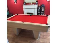 Slate Bed 6ft Red Cloth Pool Table