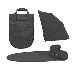 Babystyle Oyster 2 / Oyster Max / Gem CARRYCOT COLOUR PACK TUNGSTEN GREY - BRAND NEW