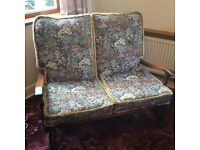 Sofa 2 Seater with Matching Armchairs, Cottage Style