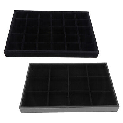 2pcs Black Jewelry Display Tray Bracelet Watch Anklet Display 12 30 Grids