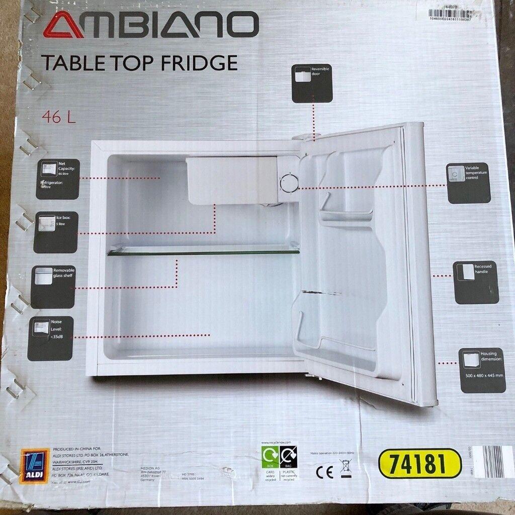 Mini Fridge 46l Ambiano Aldi Hardly Used