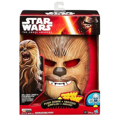 STAR WARS  CHEWBACCA ELECTRONIC TALKING MASK NEW Retail Box! Hasbro