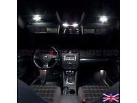 VOLKSWAGEN VW GOLF MK5 MK6 MK V FULL INTERIOR LIGHTS BULB KIT SET (ERROR FREE) - XENON WHITE