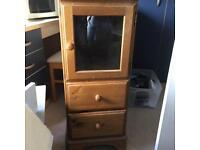 Cabinet/hifi unit DUCAL pine. £10