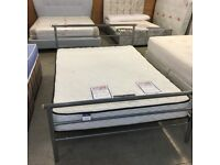 4ft6 double metal bed and Silent night mattress