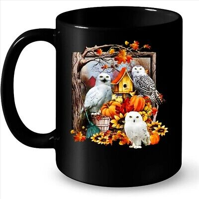 Owl Fall Season Halloween Pumpkin Coffee Black Mug