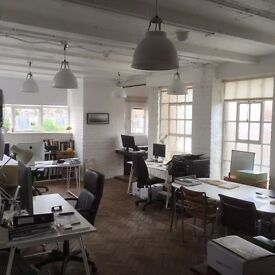 3 desks to rent in light, airy Chelsea (Lots Road) office