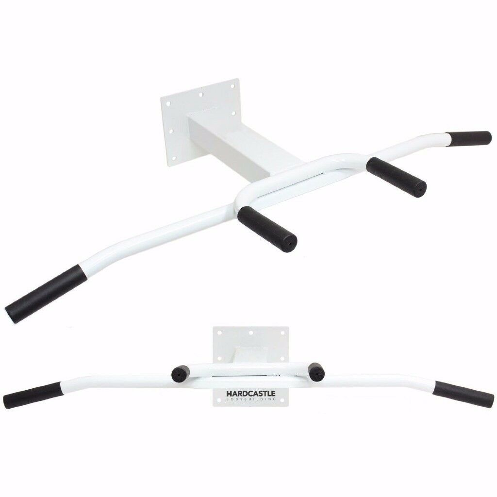 WALL MOUNTED HEAVY DUTY CHIN/PULL UP BAR CHINNING STATION HOME GYM BACK/ABS