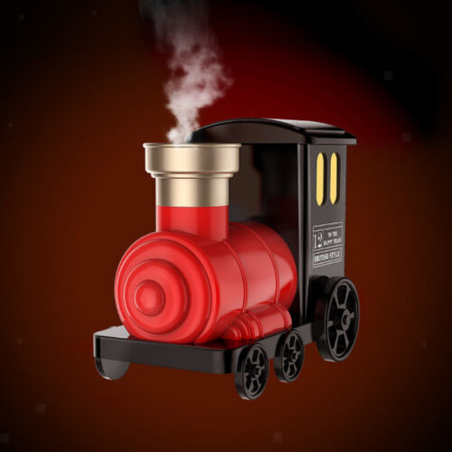 Train Shaped USB Ultrasonic Air Purifier Aroma Diffuser Mist Humidifier Red