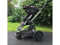 Quinny Buzz Pram and Pushchair with cosytoes, raincover and insect net.