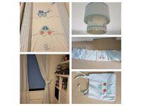 Mothercare little beep beep nursery set