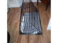 Ellie-Bo deluxe puppy travel cage with sloping front - 30""