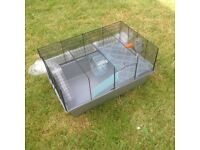 "Large Wire Syrian Hamster Home. 22""x14"". 12"" deep. Little used in good condition."