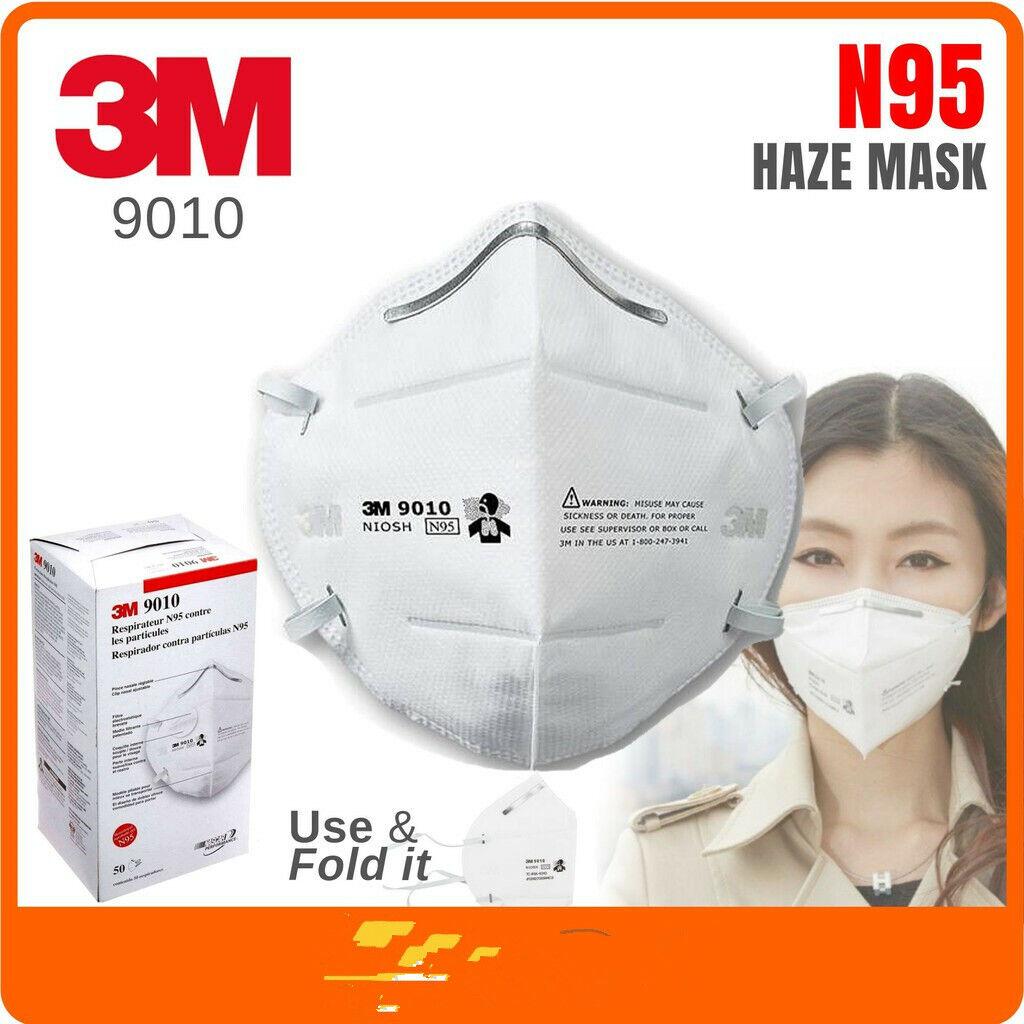 5/10/50 Pack 3M 9010CN N95 Face Mask Respirator KN95 Non med