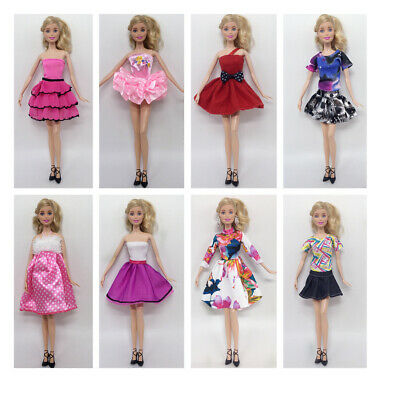 8 Satz / Pack Party Rock Kleid Tops Prinzessin Kleid Für 29 cm Puppen