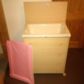 Changing unit (Drawers, changing mat and bath)